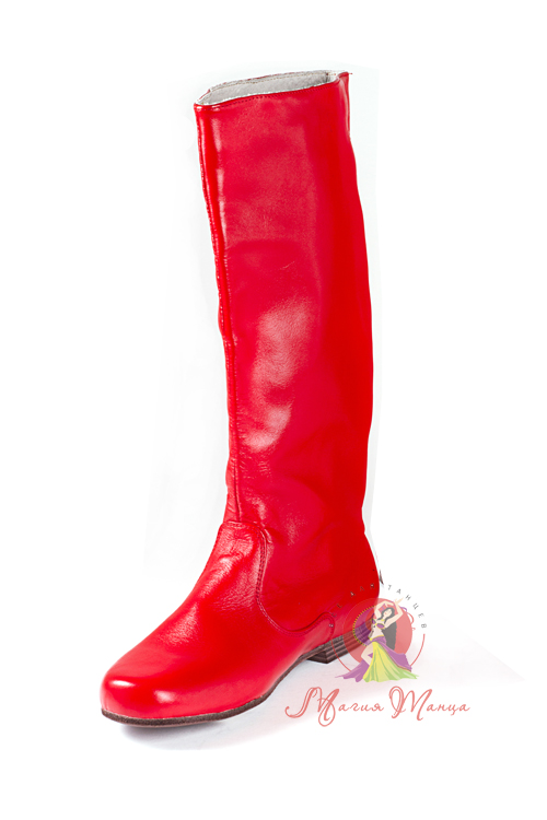 Чоботи для народних танців чоловічі червоні a5349aa80cd43