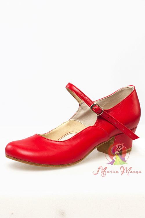 Туфлі для народних танців червоні 605-03 13fe77863f35d