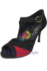 Туфлі для Танго 1 чорн/черв. замша, Розмір: р. 39