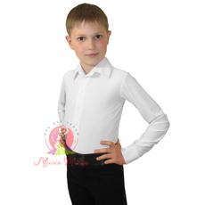 Рубашка мужская белая, матовый бифлекс (4010), фото 1