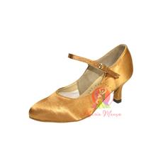 Туфли для бальных танцев (женский стандарт) ТМ Clubdance 81114b из бежевого атласа(сатина)