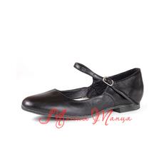 Туфли народные на низком каблуке черные., фото 1