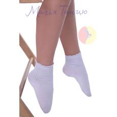 Шкарпетки білі із бавовни дівчачі, фото 1