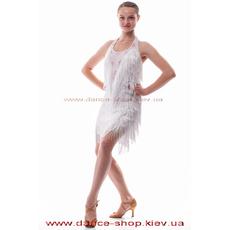 Платье латина белое