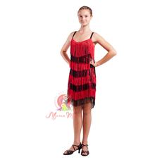 Сукня латина з бахромою фото 1