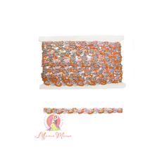 Стрічка пайєточна 1,5 см рожева/малинова, фото 1