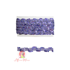Лента пайеточная 1,5 см фиолетовая, фото 1