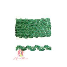 Лента пайеточна 1,5 см зеленая, фото 1