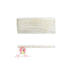 Лента пайеточна 1,5 см белая, фото 1