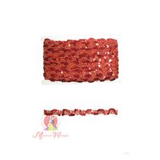 Лента пайеточная 1,5 см красная, фото 1