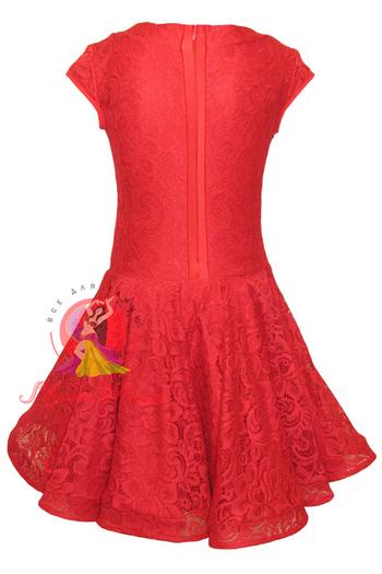 Бейсик рейтинговое платье для танцев красное