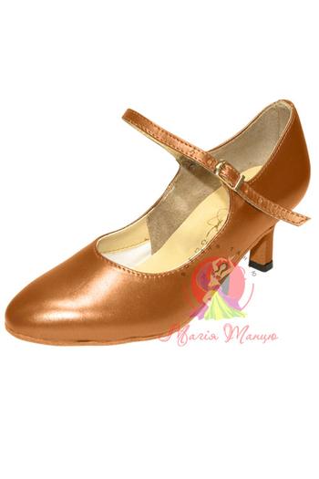 Туфли для бально-спортивных танцев женский стандарт ТМ Clubdance 81114a из коричневой кожи