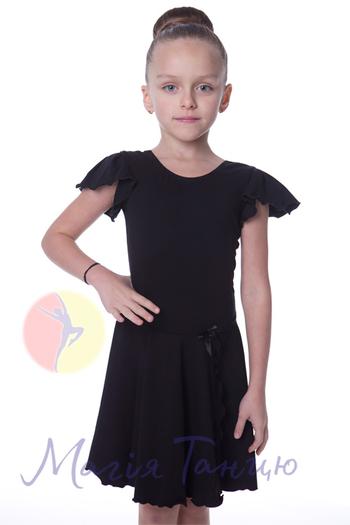 Бейсик из хлопка черный короткий рукав, фото 1