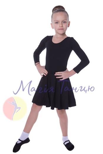 Бейсик для танцев чёрный с длинным рукавом, фото 1
