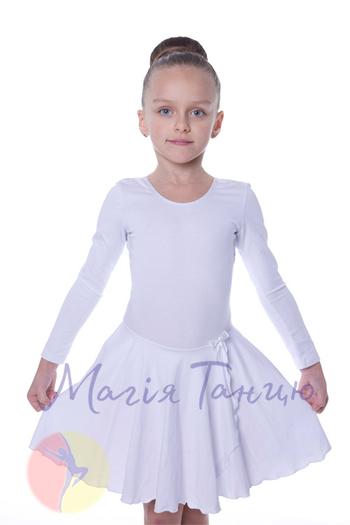 Бейсик для танцев белый с длинным рукавом, фото 1
