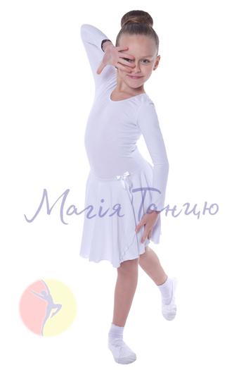 Бейсик для танцев белый с длинным рукавом, фото 2