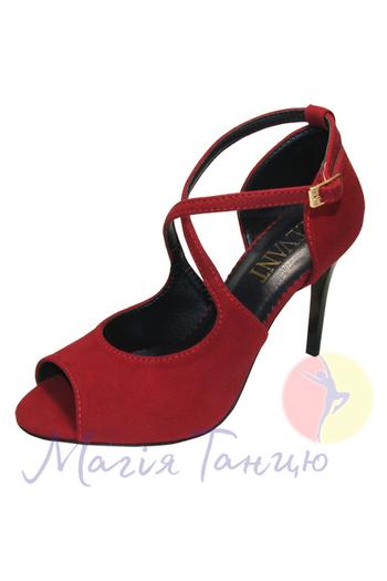 Туфли для кизомбы Рита красная замша, фото 1