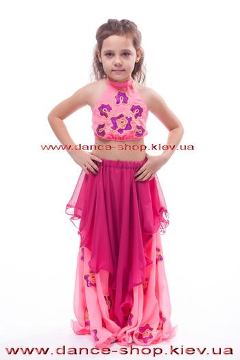 Костюм восточный детский с цветами, фото 2