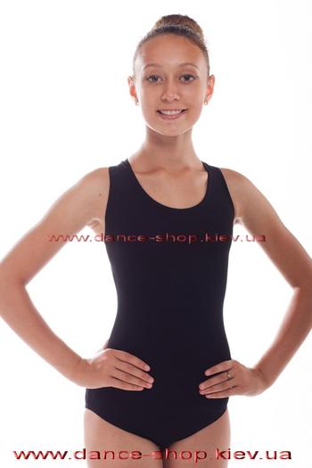 Купальник черный гимнастический
