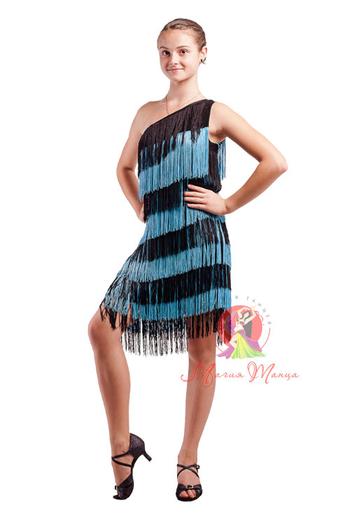 Сукня для латини з бахромою фото 1