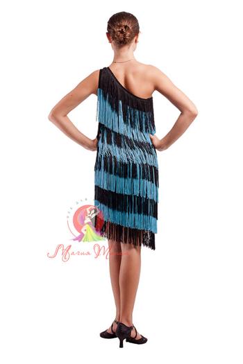 Сукня для латини з бахромою фото 2