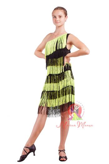 Сукня для латини з бахромою фото 3