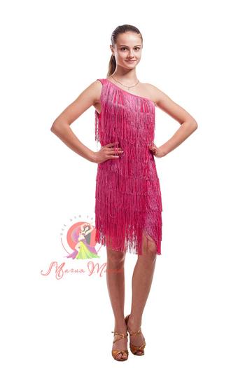 Сукня для латини з бахромою фото 5
