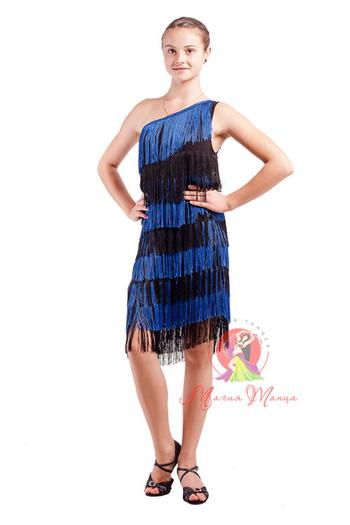 Сукня для латини з бахромою фото 6