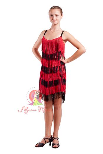 Платье латина с бахромой фото 1