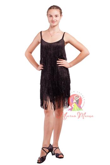 Платье латина с бахромой фото 3