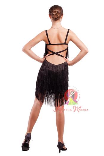 Платье латина с бахромой фото 4