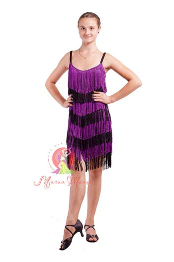 Платье латина с бахромой фото 5
