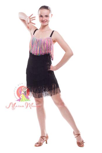 Платье латина с бахромой фото 7