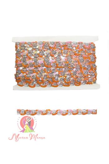Лента пайеточна 1,5 см розовая, фото 1