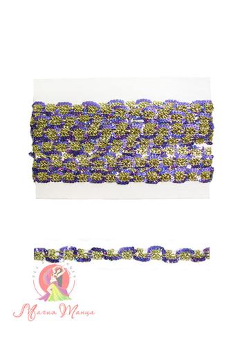 Стрічка пайєточна 1,5 см фіолетова, фото 4