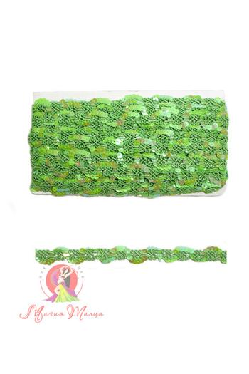 Лента пайеточна 1,5 см розовая, фото 4