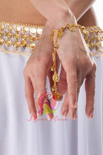 Браслет на руку или ногу монетки и бубенчики, фото 1