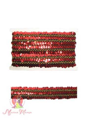 Стрічка пайєточна на резинці 4 см, фото 1
