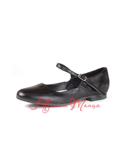 Туфли народные на низком каблуке черные., Размер: р. 18