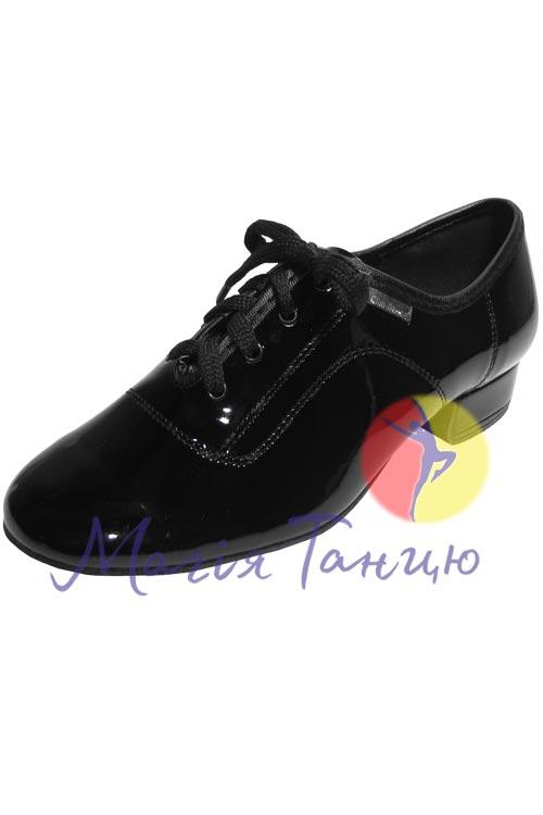 Туфли мужской стандарт Clubdance 92102 чёрный лак, Розмір взуття: р. 22,5 (35)