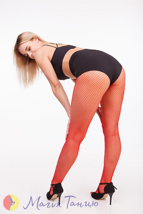 Колготы-сетка для танцев CABARET красные, Размер колгот: р. M/L,фото 9